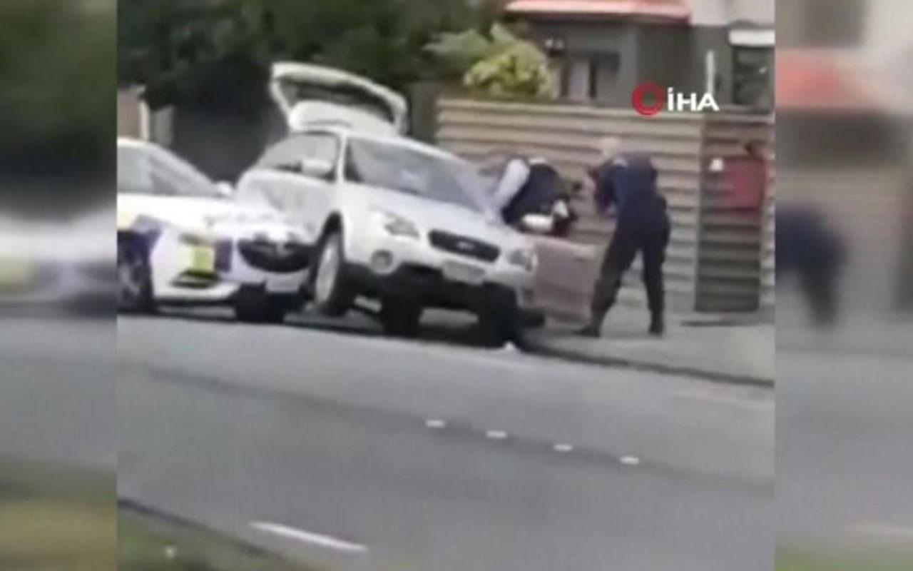 Yeni Zelanda saldırganı Brenton Tarrant'ın yakalanma anı görüntüsü