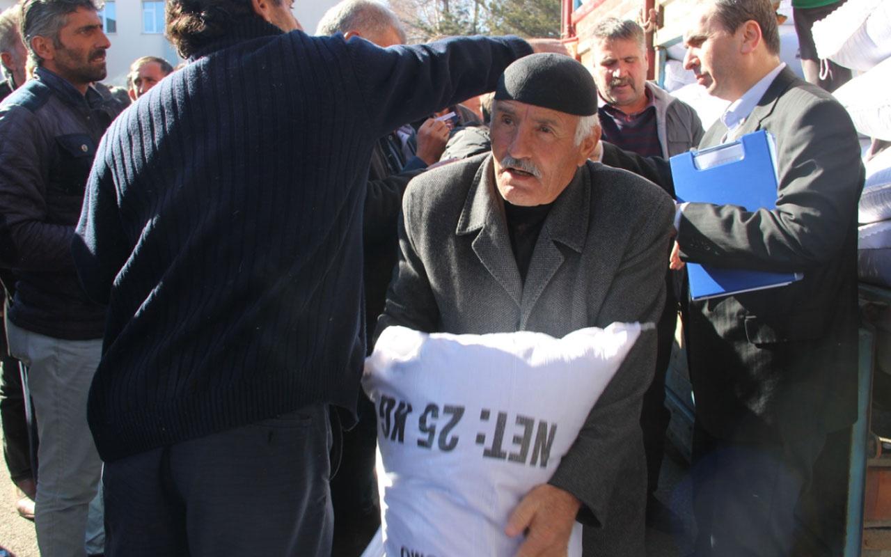 Erzurum'da çiftçilere 230 ton tohum dağıtıldı