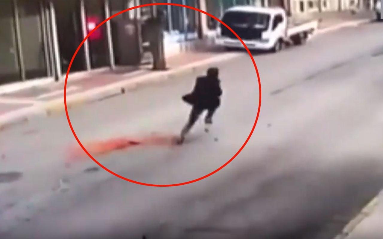 Denizli'de depremden kaçarken ölümden saniyelerle kurtuldu!