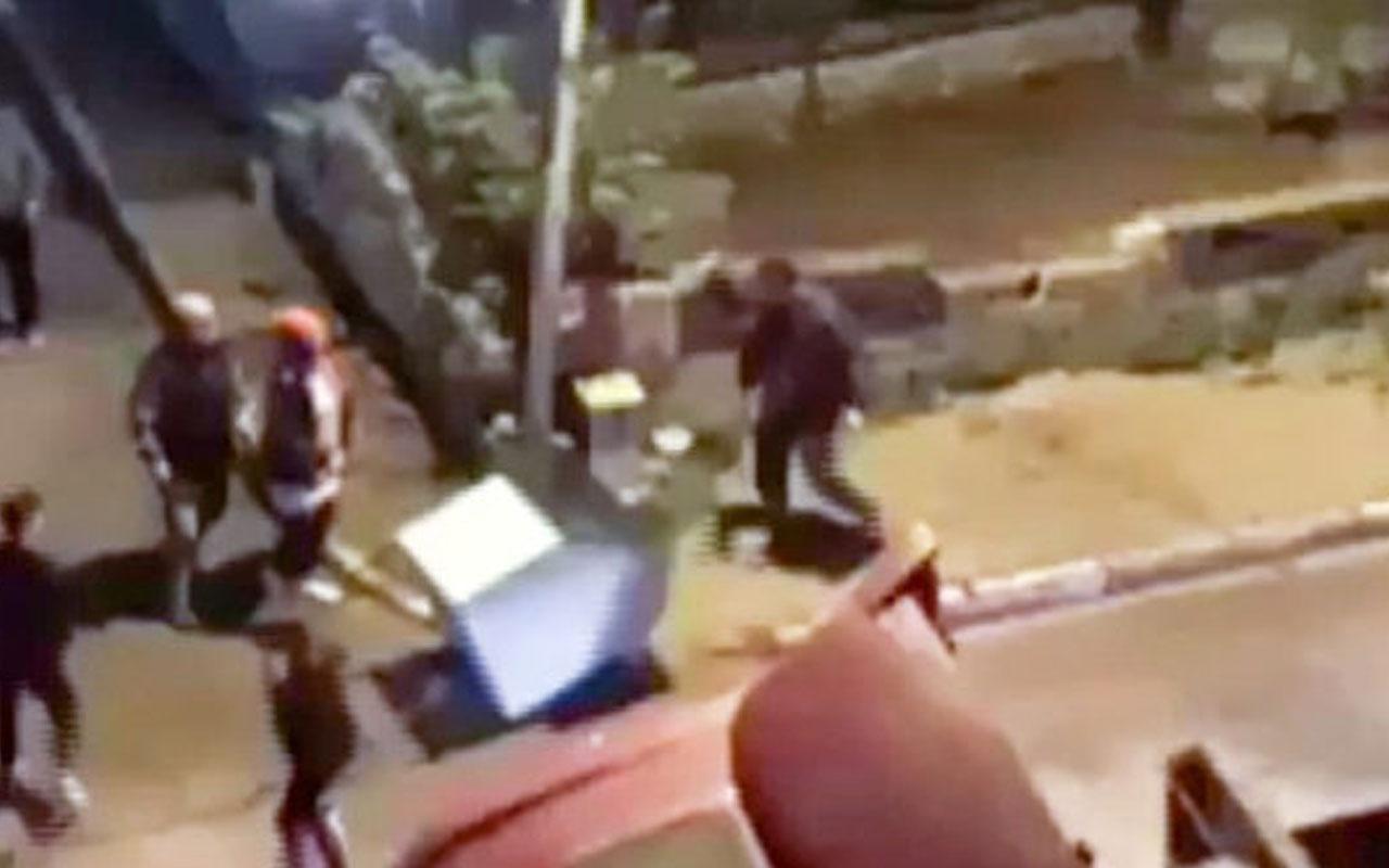 Maltepe'de hayvan kulübesini yıkan adam kamerada