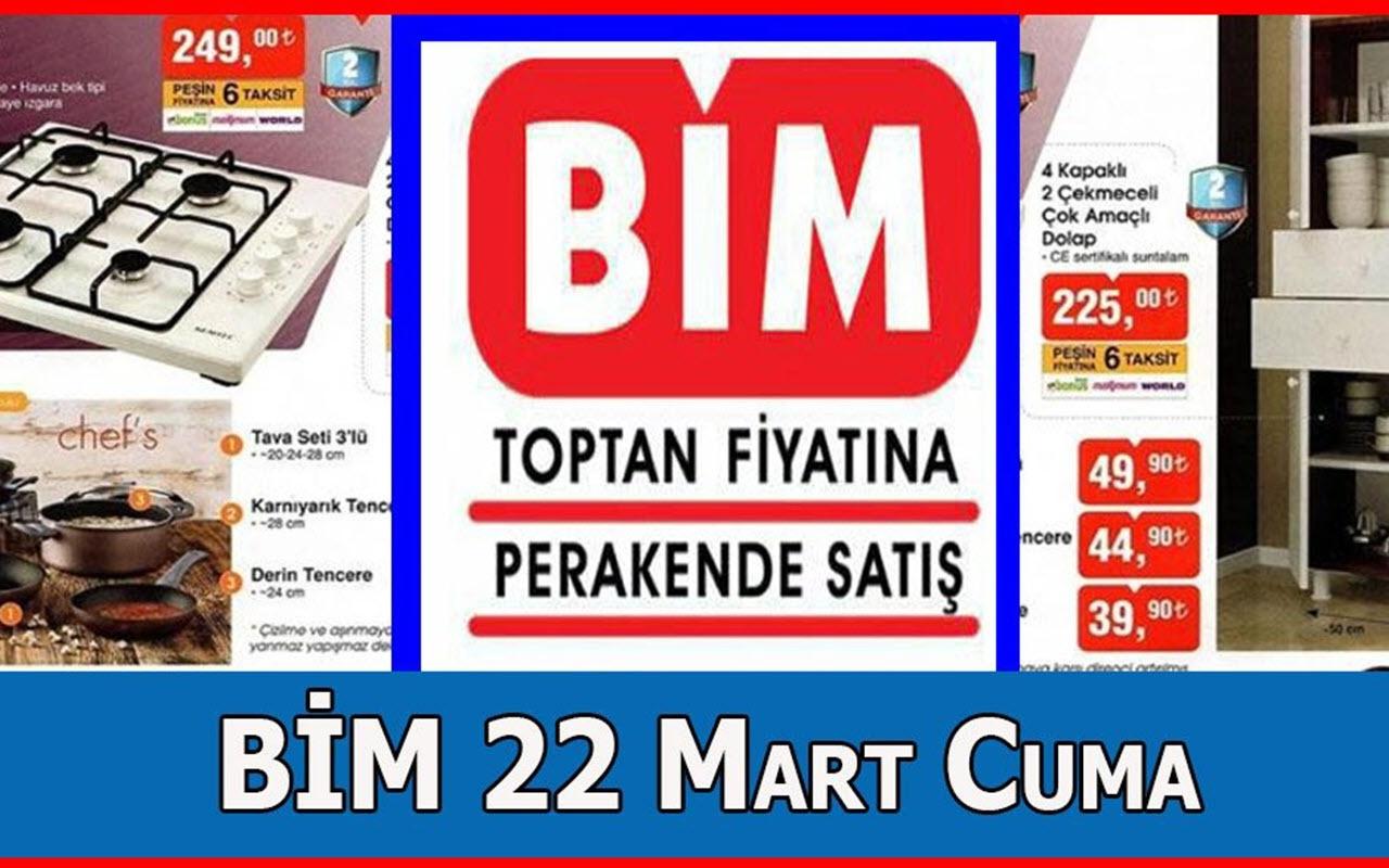 BİM aktüel indirimli ürünler 22 Mart haftası kataloğu BİM'de Cuma indirimleri