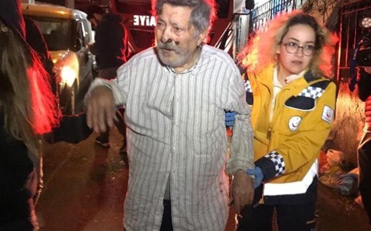 Şişli'de yangında balkonda mahsur kalanları itfaiye kurtardı