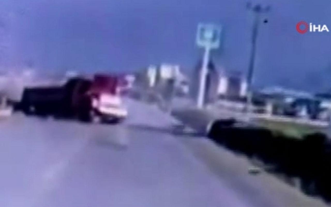 Kastamonu'da üç komandonun hayatını kaybettiği kaza kamerada
