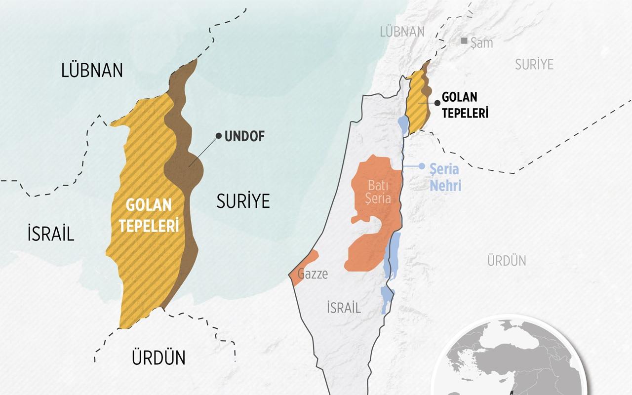 ABD Golan Tepelerini İsrail topraklarına kattı