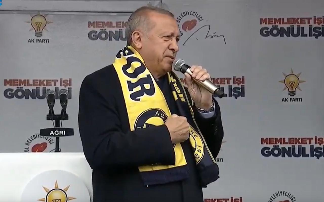 Cumhurbaşkanı Erdoğan'dan Ağrı'da Gül'e sert tepki