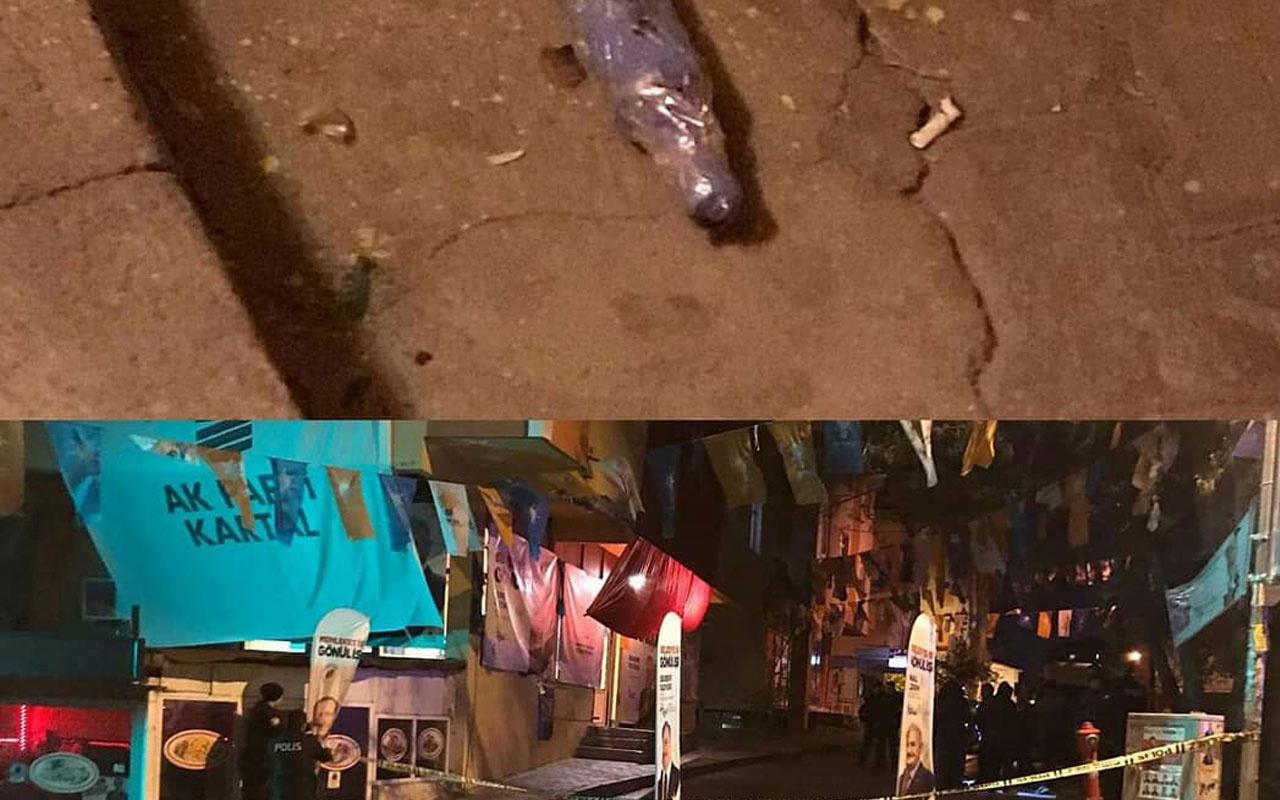 Kartal AK Parti teşkilat birimine ses bombası atıldı