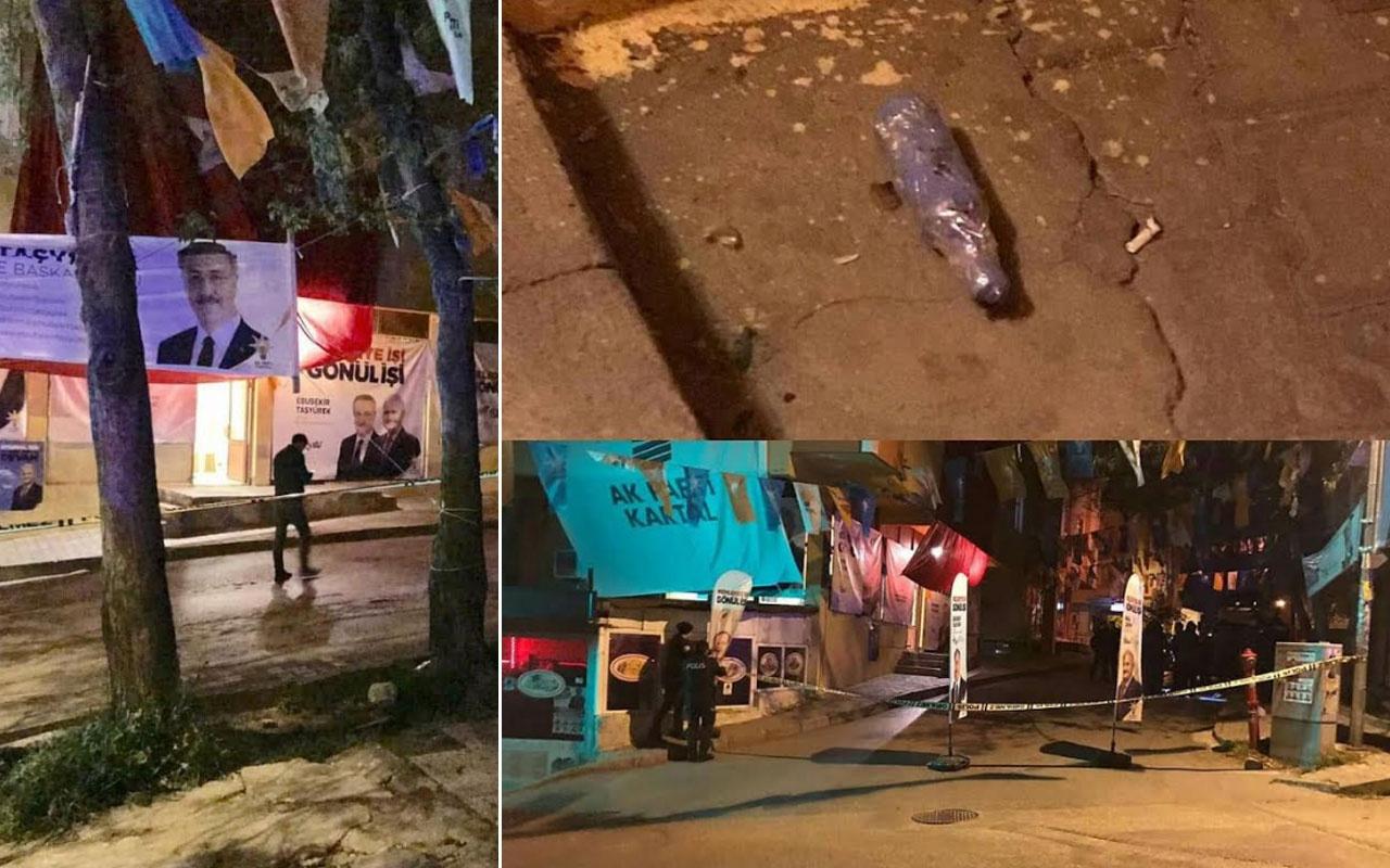 AK Parti teşkilat birimine ses bombası atıldı