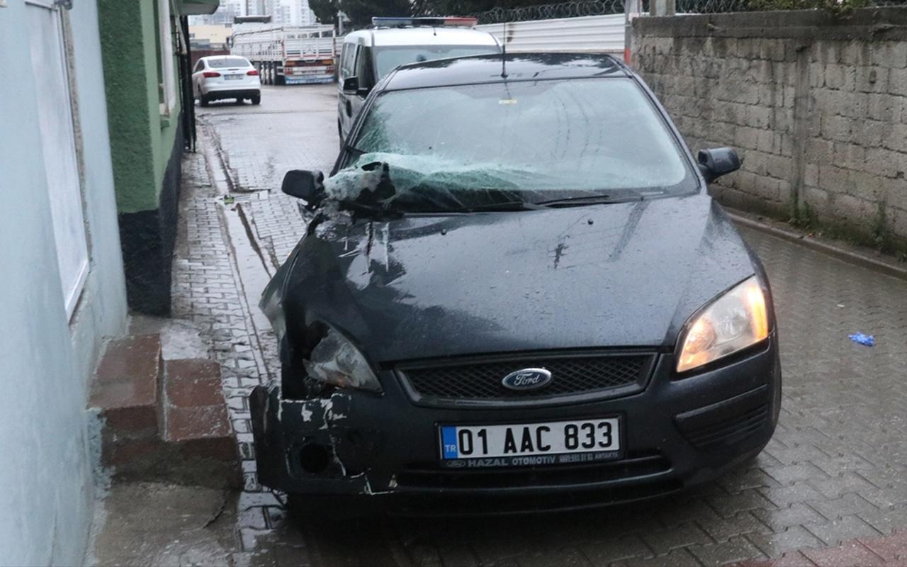 Adana'da tek bacağı olmayan sürücü kaza yaptı