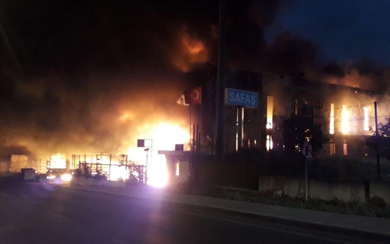 Kocaeli'de korkutan yangın! Alevler yükseldi