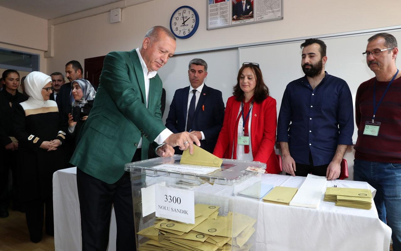 Cumhurbaşkanı Recep Tayyip Erdoğan ve eşi Emine Erdoğan oyunu kullandı