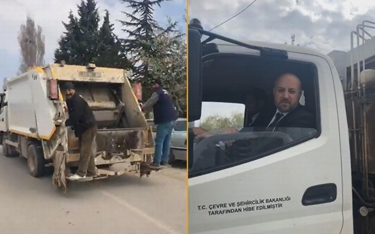 Kırıkkale'de seçimi kazanan başkanın ilk icraatı çöp toplamak oldu