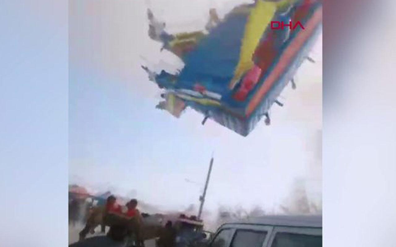 Çin'de fırtına oyun parkını alt üst etti! 2 çocuk hayatını kaybetti