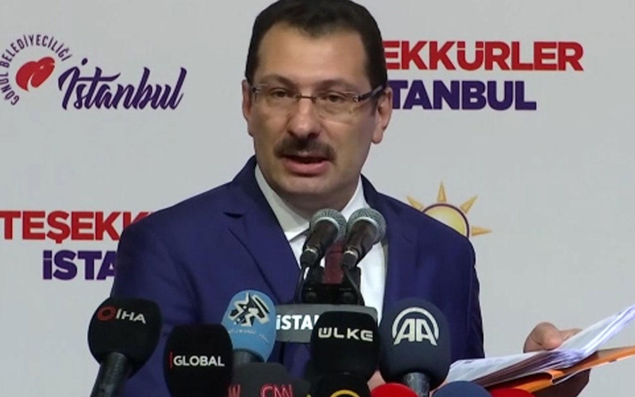 Ali İhsan Yavuz İstanbul'daki son seçim sonuçlarını açıkladı