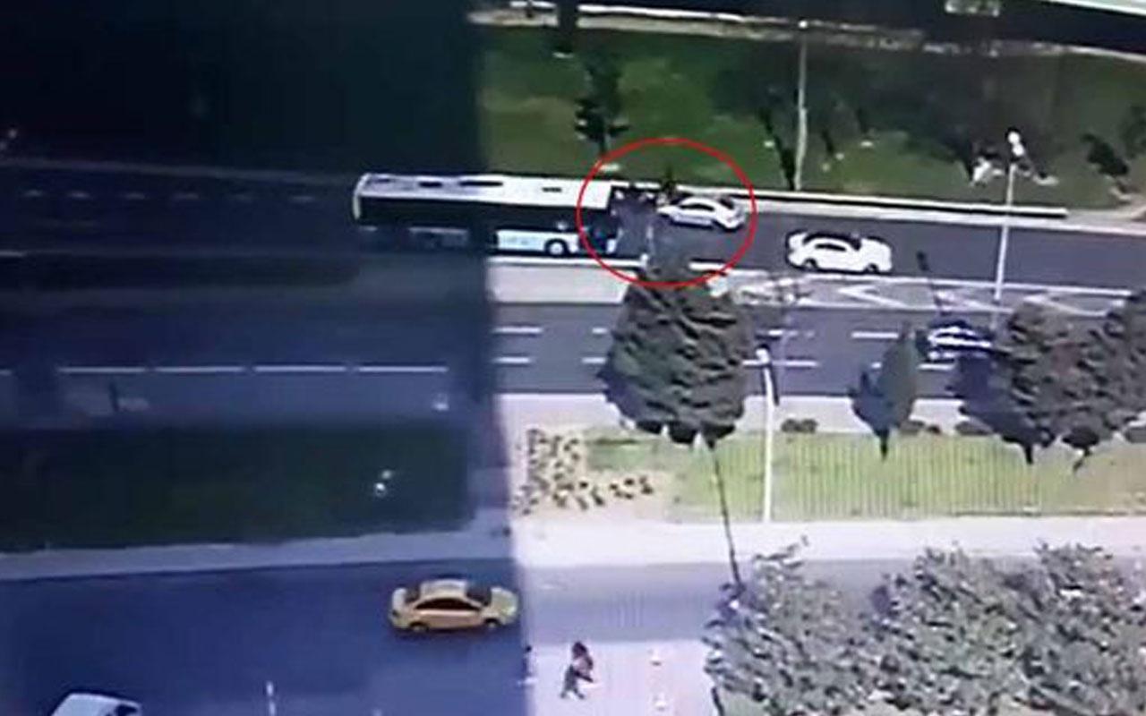 Levent'te dehşete düşüren kaza kamerada