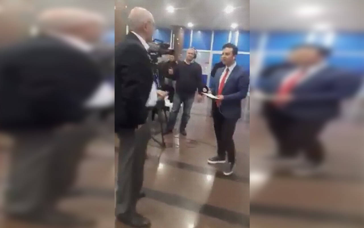 CHP'li Mahmut Tanal ve A Haber muhabirinin olay olan görüntüsü