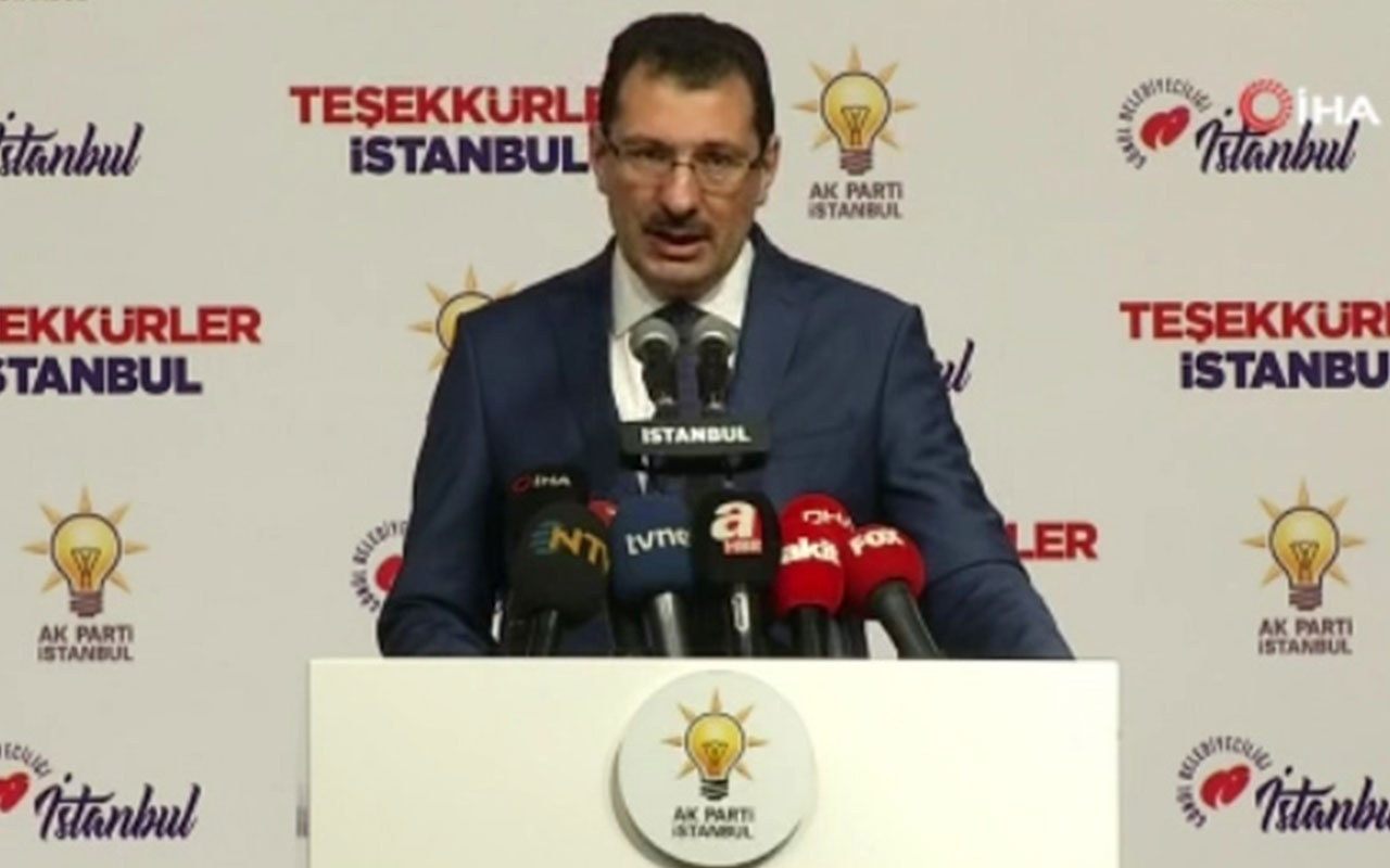 AK Parti'den İstanbul açıklaması yeniden sayım talep edilecek