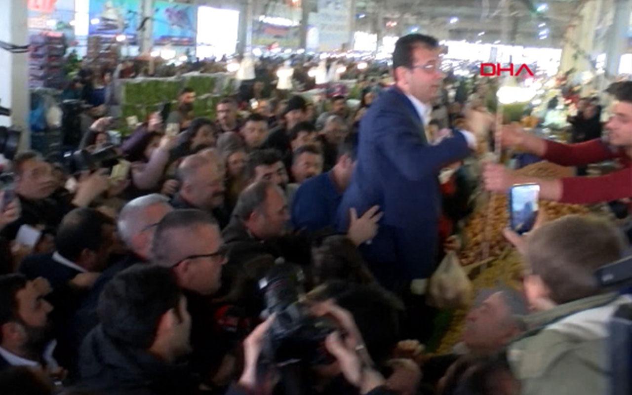 Ekrem İmamoğlu, Beylikdüzü'nde pazar tezgahına çıktı
