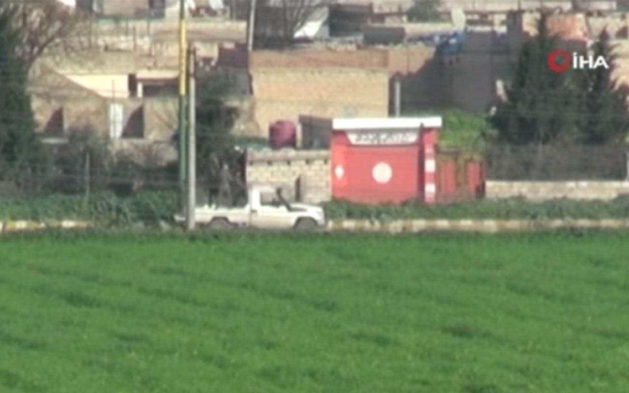 YPG'li teröristlerin Suriye'deki zırhlı konvoyu görüntülendi
