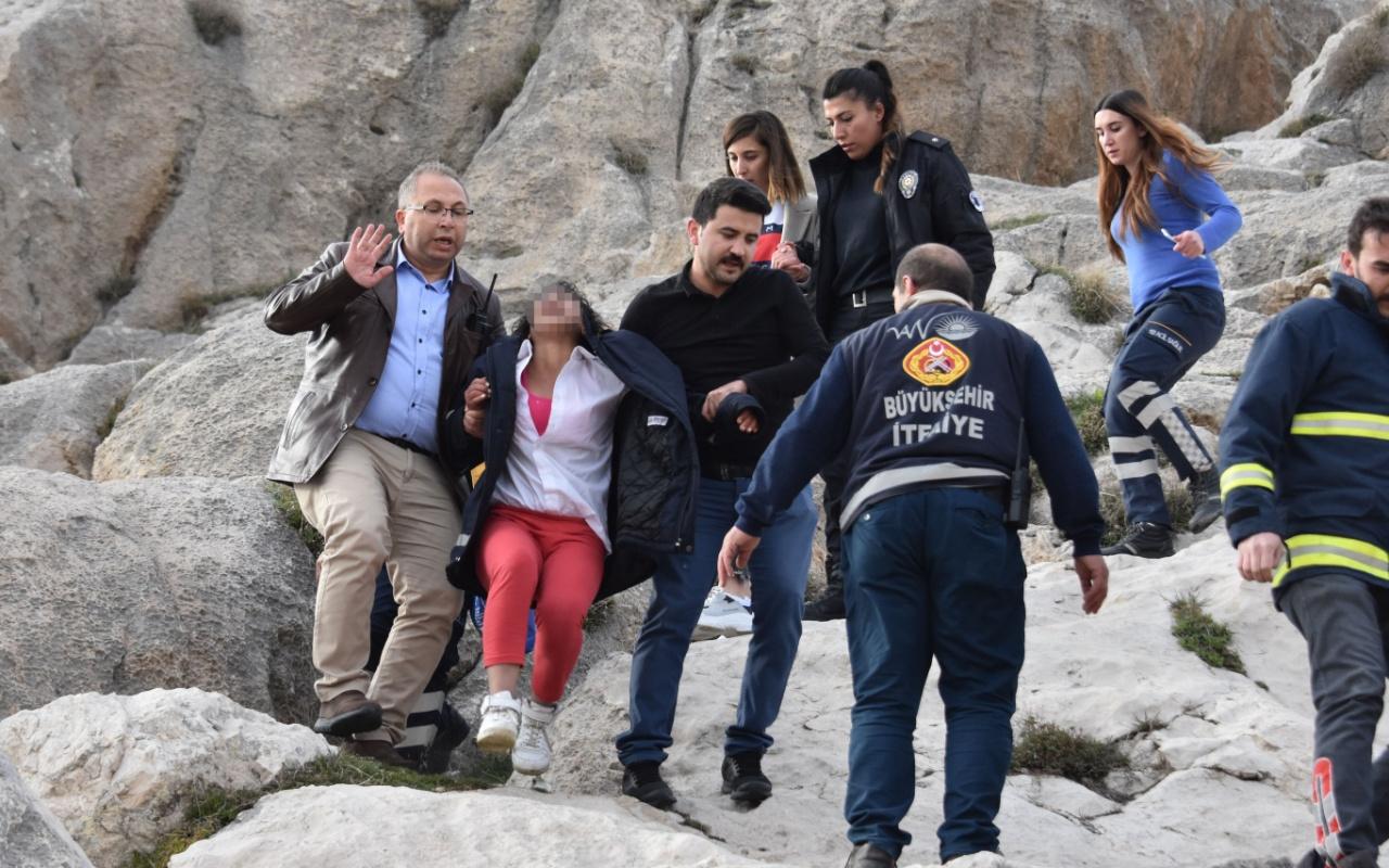 Van'da Suriyeli kız kayalıklarda intihar girişiminde bulundu