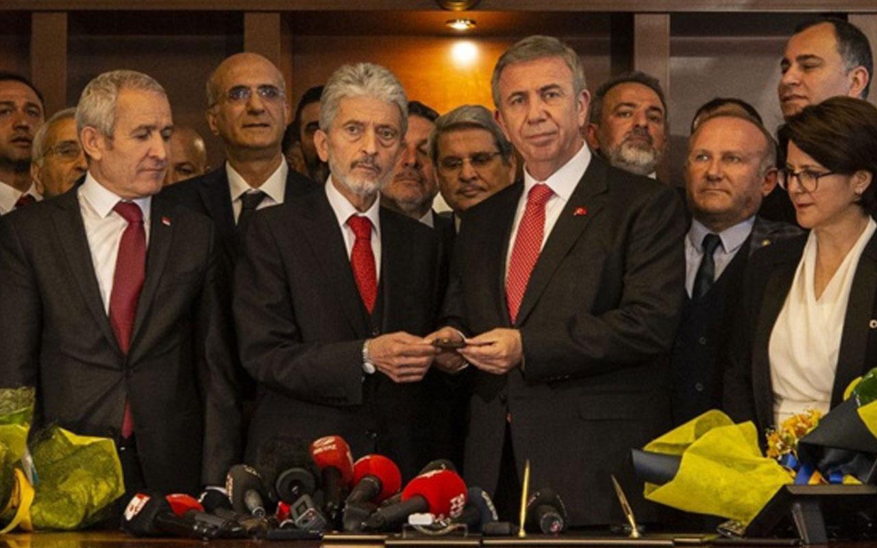 Ankara'da Mansur Yavaş Belediye Başkanlığı görevini devraldı