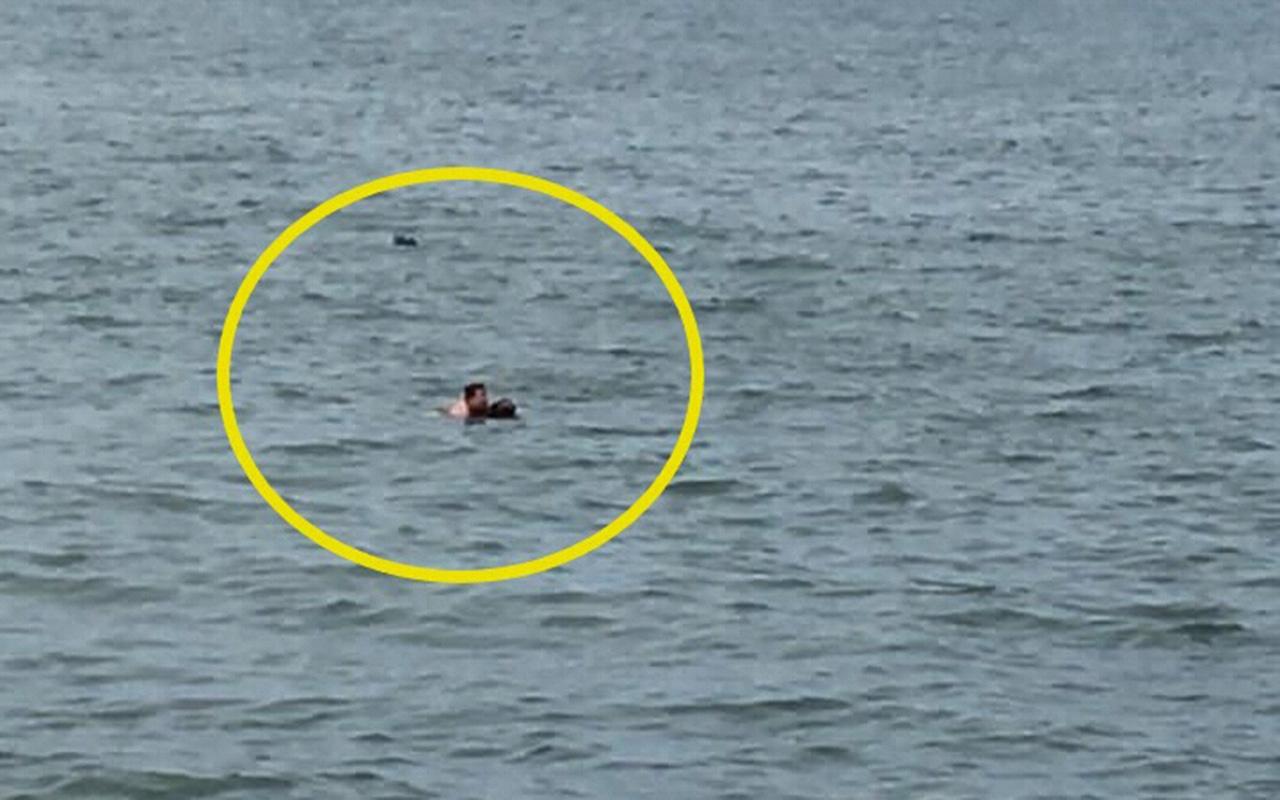Ordu'da denize atlayan kadını, güvenlik görevlisi ve astsubay kurtardı