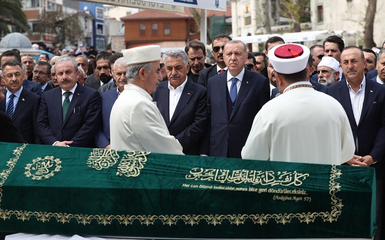 Hayati Yazıcı'nın acı günü Erdoğan tabuta omuz verdi
