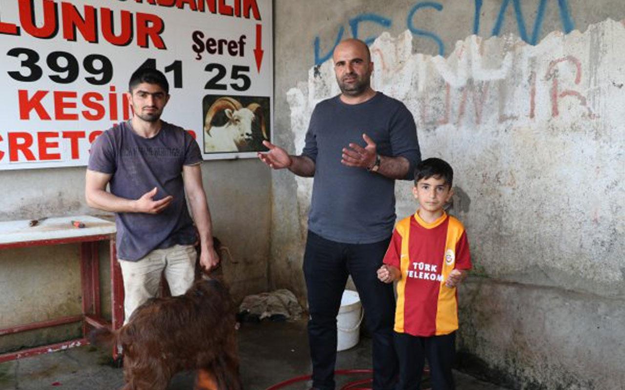 Diyarbakır'da Galatasaray bu kez kazansın diye adak koç kesildi