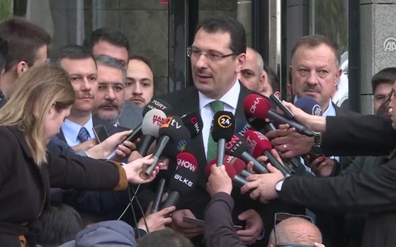 """Yavuz: """"İstanbul Büyükşehir Belediyesi seçimlerinin iptali için itirazda bulunduk"""""""
