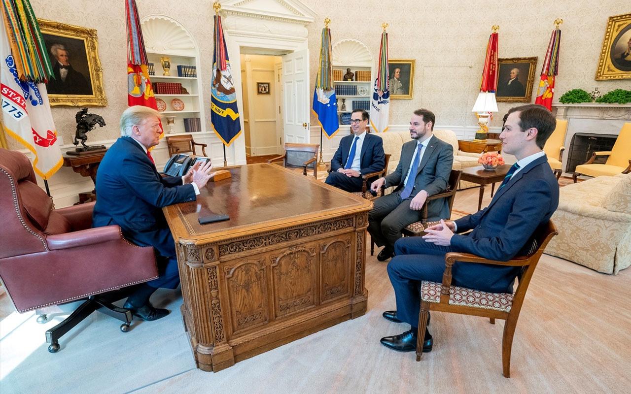 Bakan Berat Albayrak'tan Trump ile ABD'de sürpriz görüşme