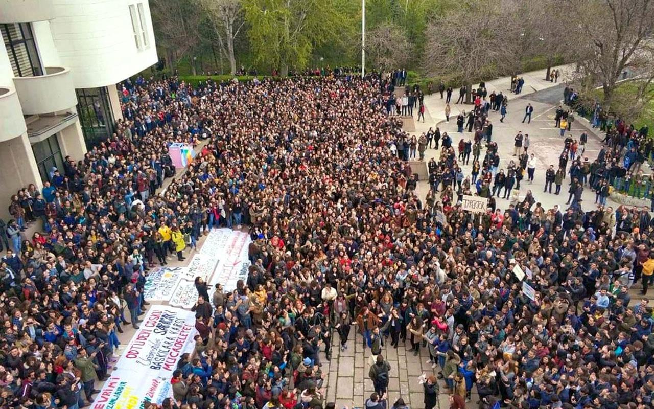 ODTÜ bahar şenliği krizi! Öğrenciler rektörlük önünde zıplıyor işte sebebi
