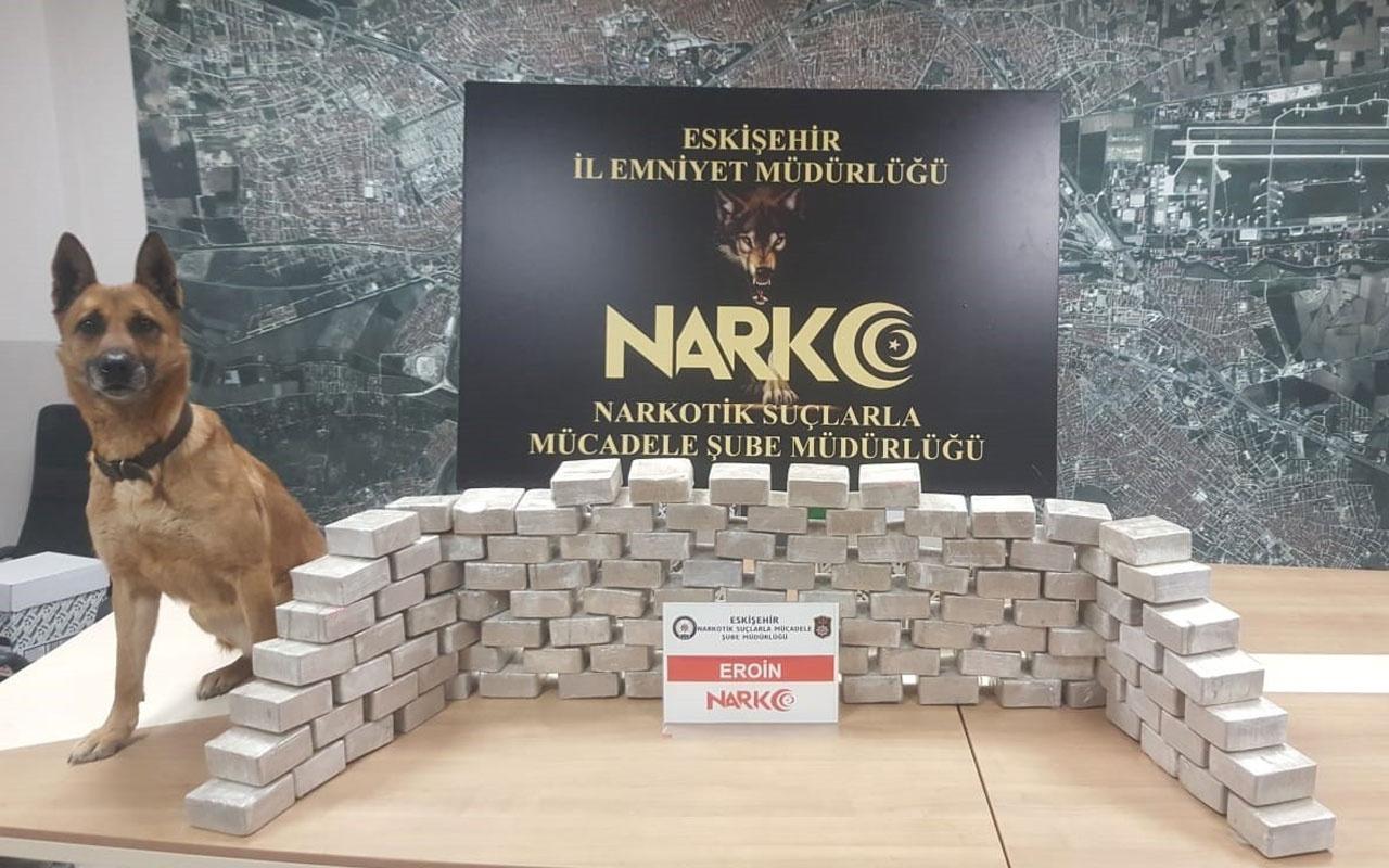 Eskişehir'de 57 kilo eroin ele geçirildi