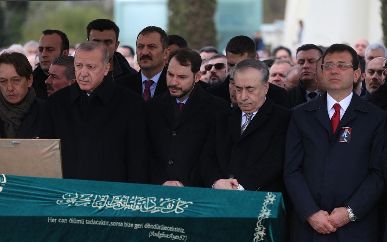 Cumhurbaşkanı Erdoğan'la Ekrem İmamoğlu aynı cenazede