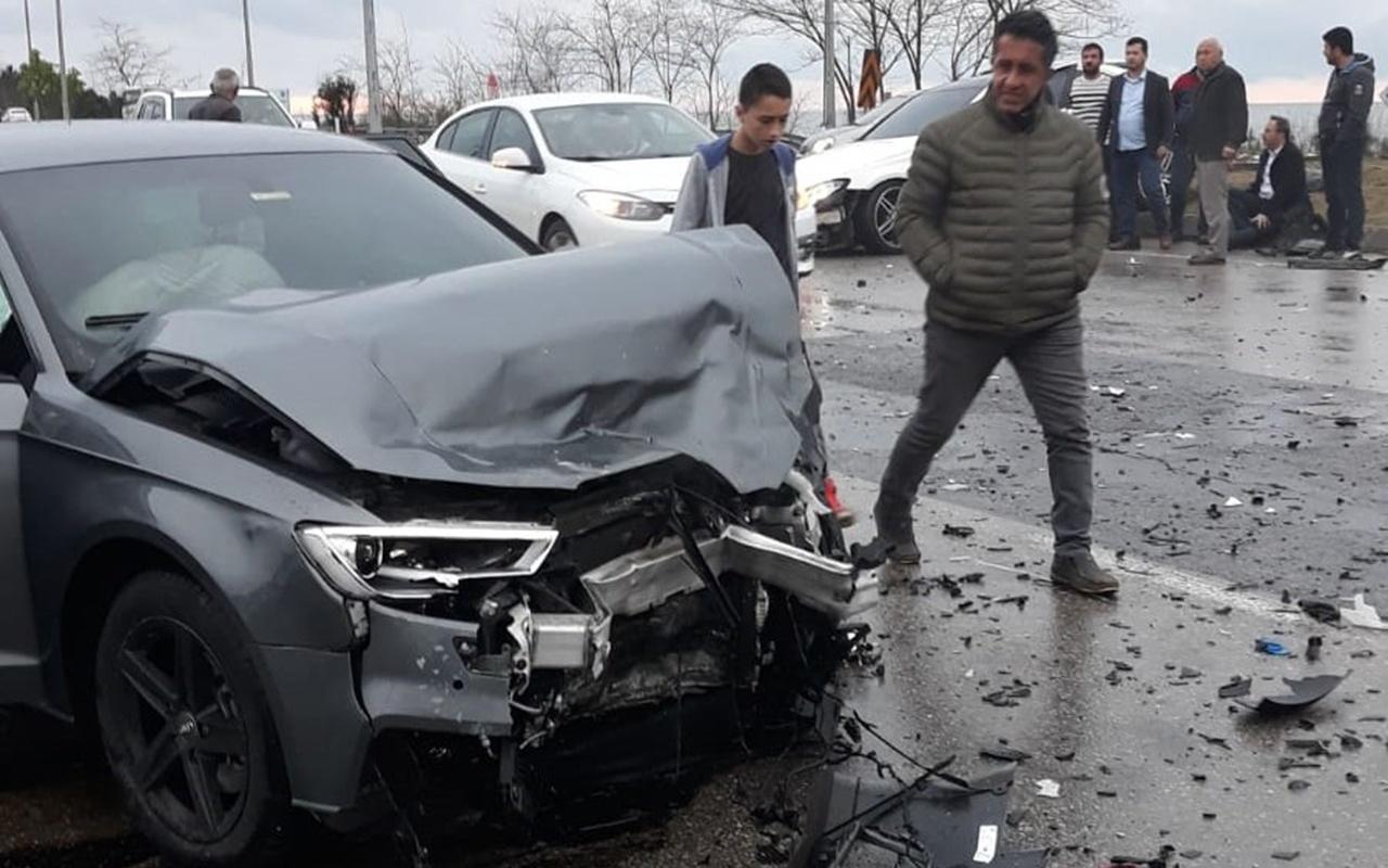 Trabzonsporlu futbolcu Hüseyin Türkmen kaza yaptı