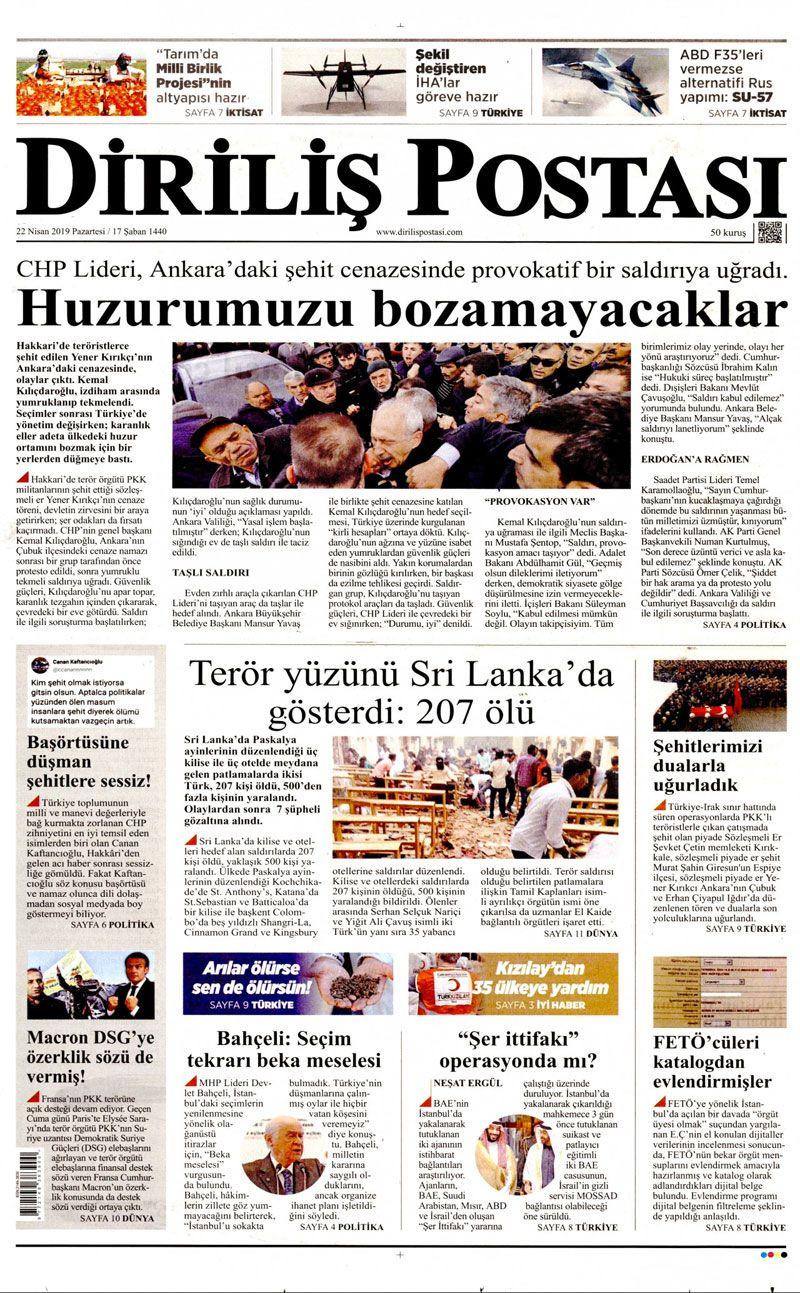 Saldırıya uğrayan Kılıçdaroğlu için hangi gazete ne manşet attı? - Sayfa 14