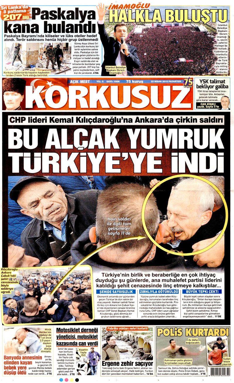 Saldırıya uğrayan Kılıçdaroğlu için hangi gazete ne manşet attı? - Sayfa 16