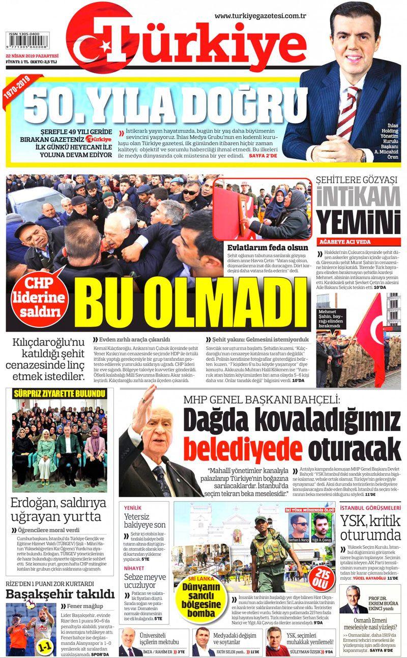 Saldırıya uğrayan Kılıçdaroğlu için hangi gazete ne manşet attı? - Sayfa 2