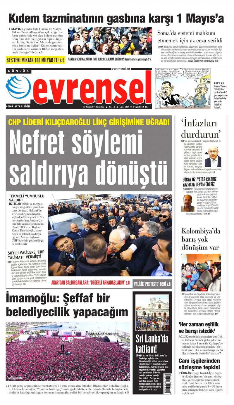 Saldırıya uğrayan Kılıçdaroğlu için hangi gazete ne manşet attı? - Sayfa 20