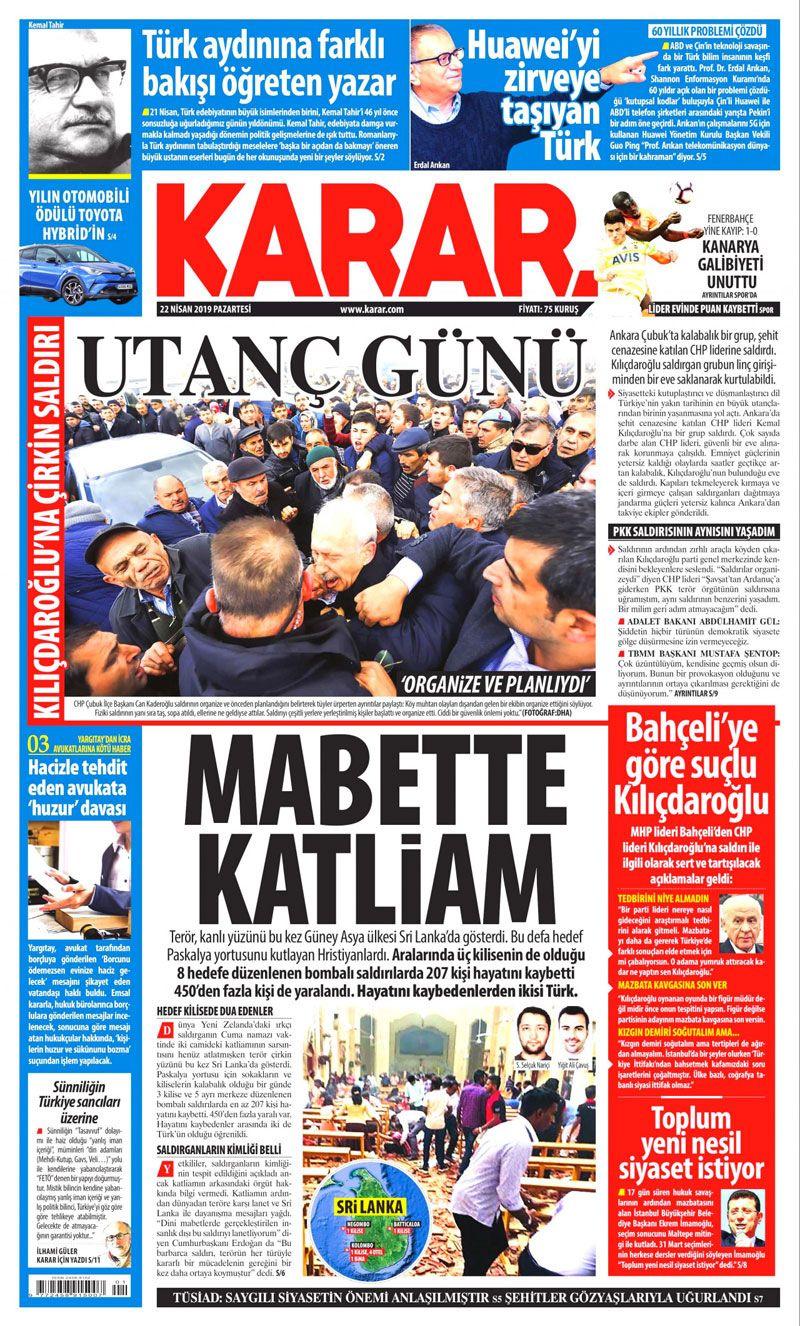 Saldırıya uğrayan Kılıçdaroğlu için hangi gazete ne manşet attı? - Sayfa 6