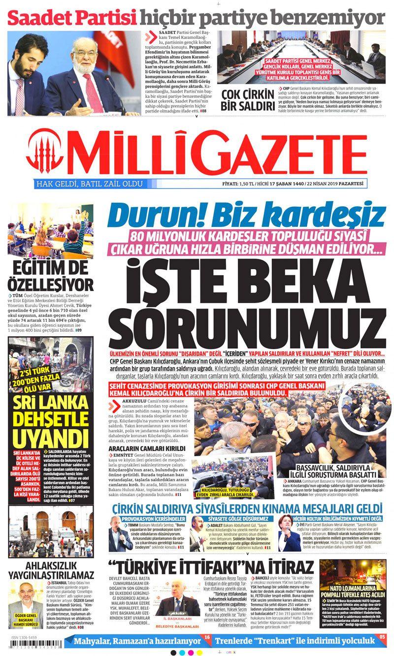 Saldırıya uğrayan Kılıçdaroğlu için hangi gazete ne manşet attı? - Sayfa 7
