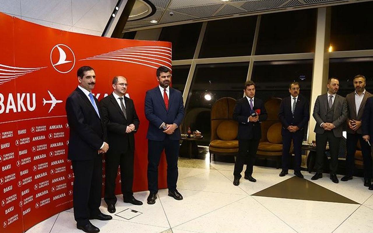 THY, Ankara-Bakü uçuşlarına başladı
