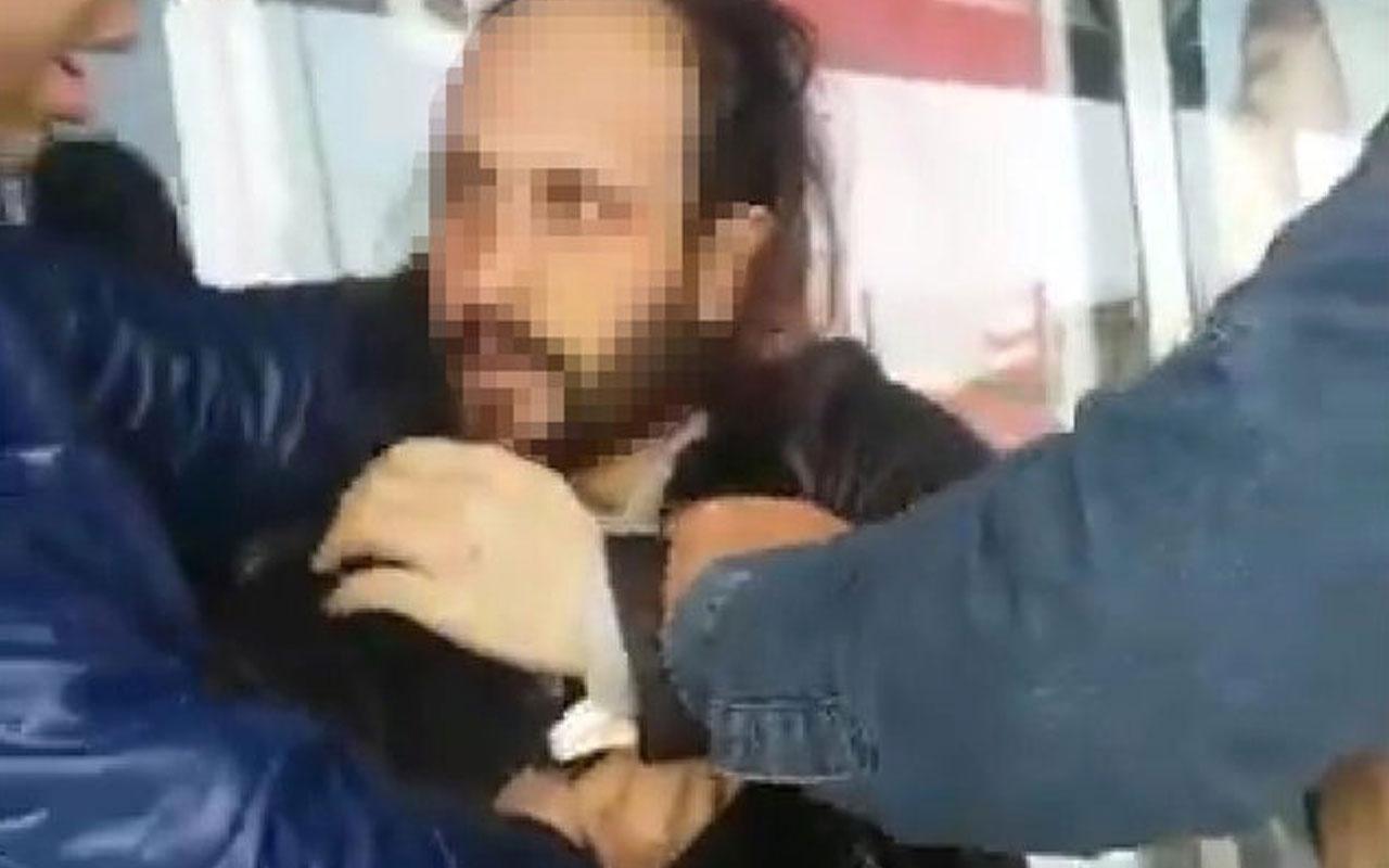 Metrobüs sapığının görüntüleri! Mastürbasyon yaparken yakalandı
