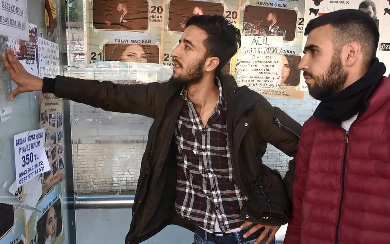 Sultangazi'de otobüs duraklarına 'satılık böbrek' ilanı astı