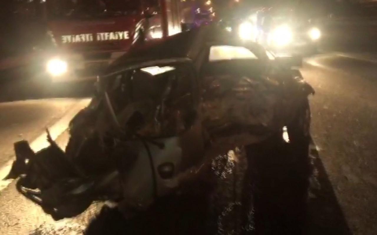 TEM Otoyolu'nda 6 araç birbirine girdi