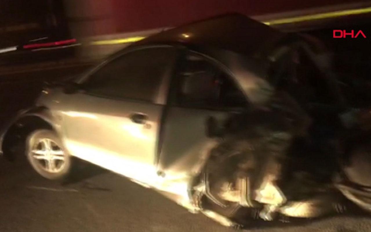 Ümraniye'de TEM Otoyolu'nda 6 araç birbirine girdi