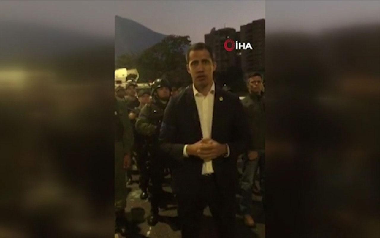 """Guaido'dan askeri birliklere """"sokağa çıkın"""" çağrısı"""