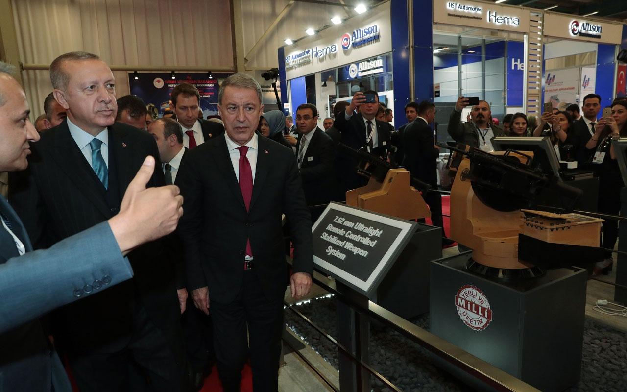 Cumhurbaşkanı Erdoğan  IDEF açılışında Standları tek tek gezdi