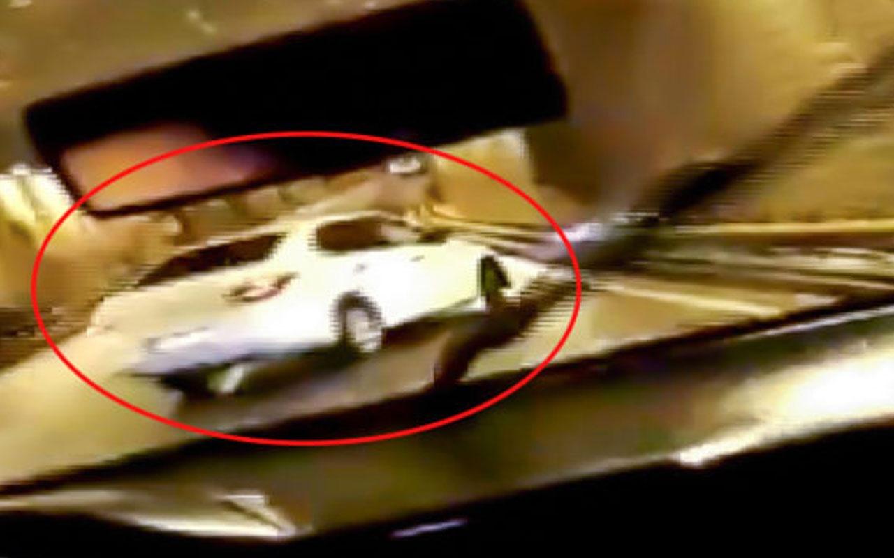 Drift yapan sürücünün bariyerlere çarptığı anlar kamerada