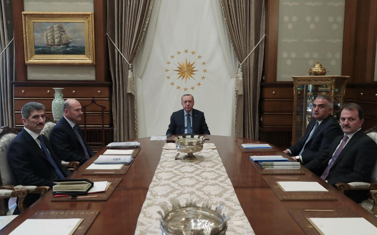 Cumhurbaşkanı Erdoğan Bakan Soylu ve Ersoy'u kabul etti