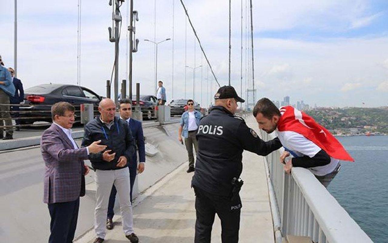 Ahmet Davutoğlu vazgeçirdi Bir garip intihar girişimi