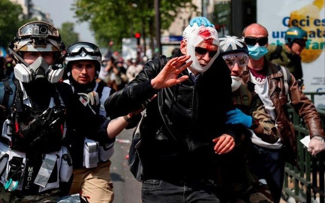 Paris sokakları karıştı! Yaralılar var